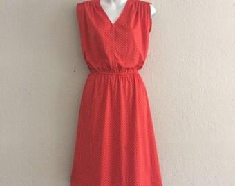 70s polka dot dress xs/sm