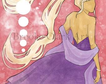 "Sailor Moon Princess Serenity 11x17"" Illustration Poster"