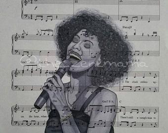 Legends on Music series - Whitney Houston (print)