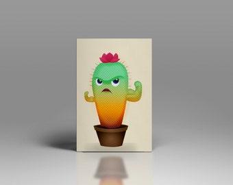 Cactus illustration card