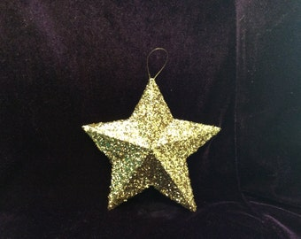 Glittered five pointed star