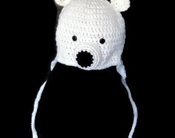 Polar Bear Hat Handmade Crochet Hat