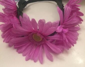 Flower Crown Daisy Headband Flower Girl Festival Accessory