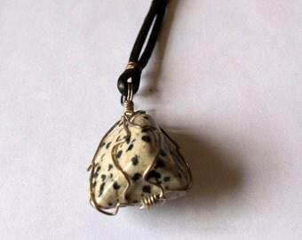 Wrapped Gemstone- Dalmantion Jasper