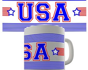 USA Stripes Ceramic Mug