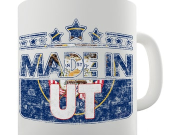 Made In UT Utah Ceramic Tea Mug
