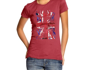 Women's GB Artistic Gymnastics Collage T-Shirt
