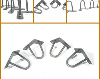 "Single - 4″ (10cm) Hairpin Leg. 3/8"" (10mm). Steel. Bed legs. Cabinet legs. Sofa legs. TV legs. Metal legs. Steel legs."