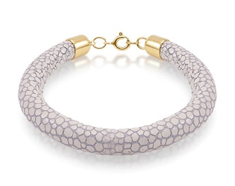 Grey stingray print bracelet