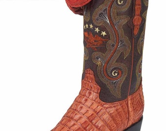 the general boot Cowgirl exotic to 6788-R skin alligator tail cognac ID 6