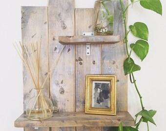 Reclaimed Modern Rustic Wall Shelf