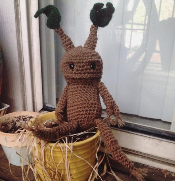 Amigurumi Mandrake : Amigurumi Mandrake by GenglerKnits on Etsy