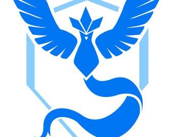Team Mystic- Pokemon Go Stencil- REP YOUR TEAM!
