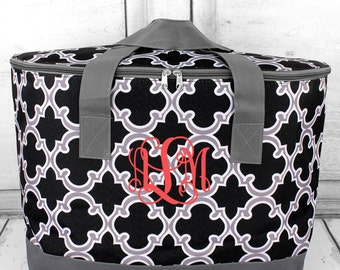 Monogrammed Moroccan Cooler Tote