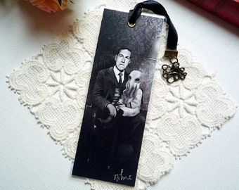 H.P. Lovecraft and Cthulhu - bookmarks illustrated, plasticized, handmade