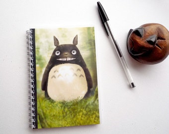 Handmade My neighbor Totoro - illustrated, laminated, notebook