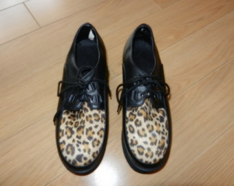 """Shoes leopard heels offset by 2 1/4 """"(gr. 7)"""