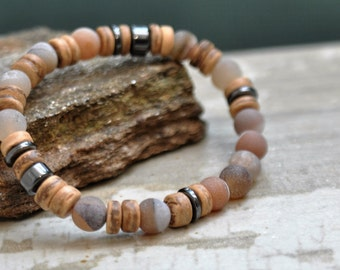 Boyfriend Gifts Beach Jewelry For Him Mens Yoga Bracelet Mens Beaded Bracelet For Meditation Mala Bracelet Mens Bracelet Zen Gifts