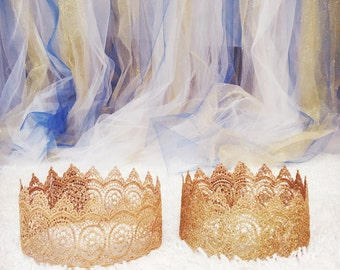 Lace crown for prince or princess