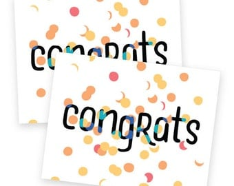 Congrats Confetti • single card