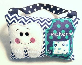 Personalized Tooth fairy pillow!Tooth fairy pillow, Personalized, Tooth holder, Custom made Tooth Fairy pillow