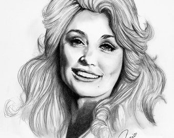 "11x14"" Dolly Parton2 Economy Print by Award Winning Artist, Corey Frizzell"