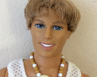 Vintage Ken, Mattel, beach outfit, 1990