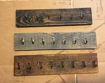 Wall Rack, Rustic Wall Rack, Wood Necklace Holder, Jewelry Rack, Rustic Jewelry Rack, Jewelry Holder, Key Rack, Necklace Rack, Leash Hanger