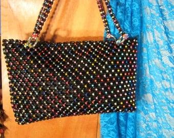 Colorful Evening Shoulder Bag Handbag Unique Fun Beaded