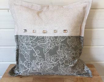 Unique design bling cushion