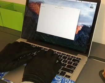The Writer's Glove - Type W/Cold Hands - NOT Fingerless - Touchscreen Enabled - Grippy - Best Writing Gloves