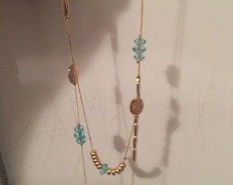 sautoir /like bg collier / Swarovski long necklace