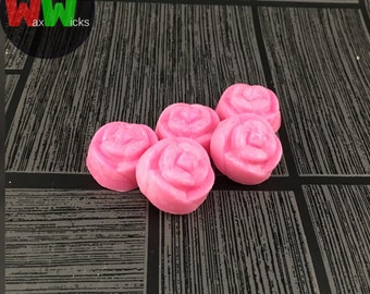 Soy Wax Mini-Melts, Scented Wax Mini-Melts, Rose Shaped Mini-Melts, Home Fragrance - Pack of 10
