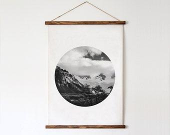Mount Photo, Mount Poster, Landscape Poster, Abstract Photo, Minimalist Poster, Digital Art, Downloadable Artwork