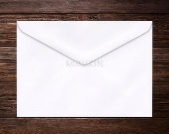 Recycled C6 White Envelopes, C6 Envelopes, White Envelopes, Eco Envelopes, Wedding Envelopes, Recycled Envelope x 20