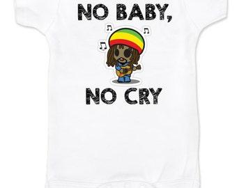 No baby no CRY Rasta Bob Marley CUTE FUNNY baby onesie