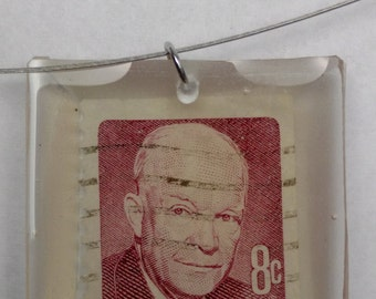 Eisenhower stamp necklace