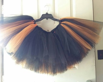 Black & Orange Grown Up Tutu - Halloween Costume