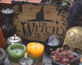Signboard, The Witch is in