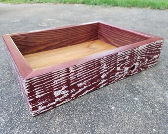 Reclaimed Wood Valet Tray, Static Ox Blood