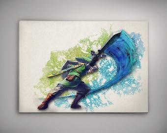 The Legend of Zelda Game Art, Link Watercolor, The Legend of Zelda Room Decor, Legend of Zelda Print, Zelda Watercolor,Legend of ZeldaArt