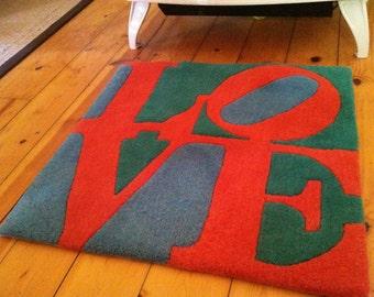 Iconic Pop Art Robert Indiana Love Rug wallhanging