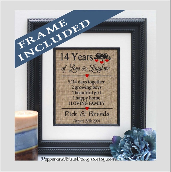 Wedding Gift 14 Years : wedding anniversary gifts, 14 years married, 14 years together, gift ...