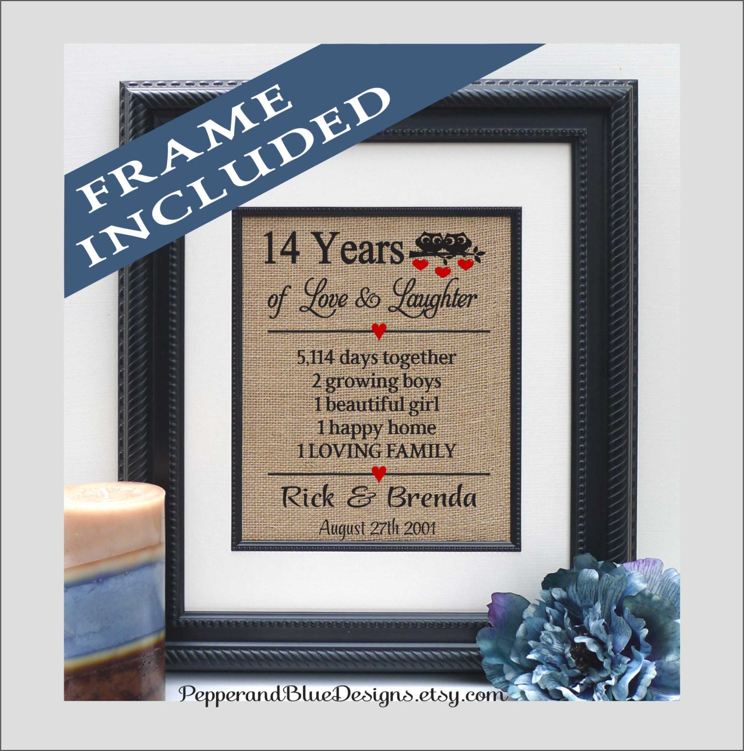 14th Wedding Anniversary Gifts 14 Years Married