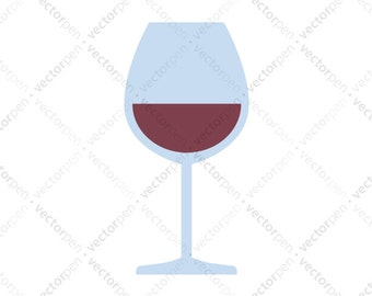 Red Wine Glass SVG. Scrapbooking and Cricut Clip Art. Digital Download