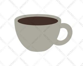 Espresso Coffee Mug SVG. Scrapbooking and Cricut Clip Art. Digital Download