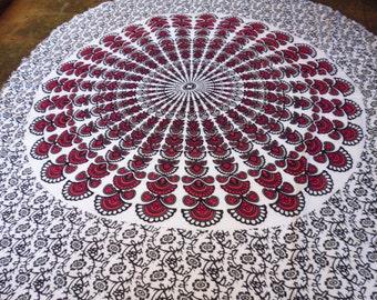 Mandala Towels  Round 110cms diameter  Square 108 cms x 118 cms