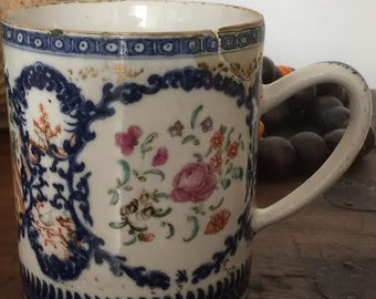 18th Century Rose Mandarin Chinese  Mug