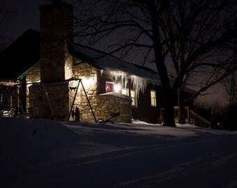 Winter Cottage Photograph