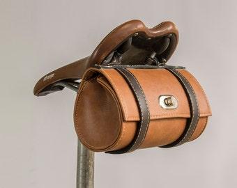 Vintage Bicycle Saddle Tool Bag Rear Cycling Retro Brooks Saddle Leather